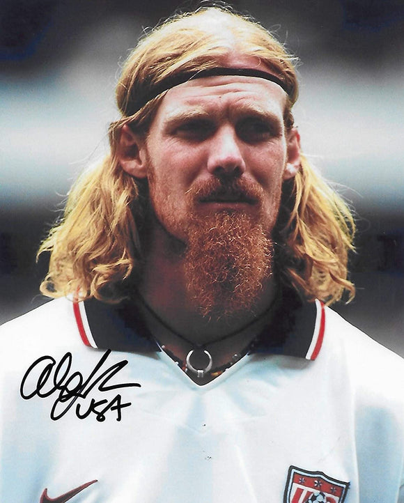 Alexi Lalas USA National team signed autographed soccer 8x10 photo proof COA