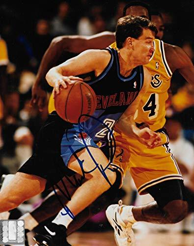 Mark Price signed Cleveland Cavaliers basketball 8x10 photo COA