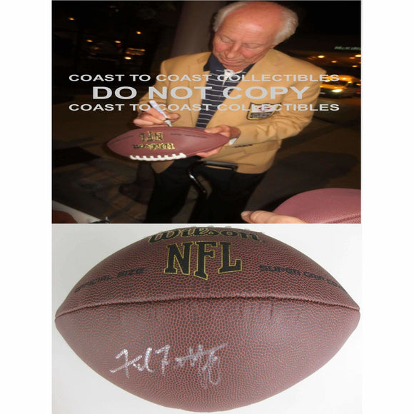 Fred Biletnikoff, Oakland Raiders, Fsu, Florida State, Signed, Autographed, NFL Football, a COA with the Proof Photo of Fred Signing Will Be Included