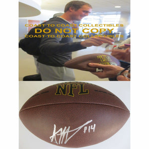 Sean Mannion St. Louis Rams, Oregon State, Signed, Autographed, NFL Football, a COA with the Proof Photo of Sean Signing Will Be Included