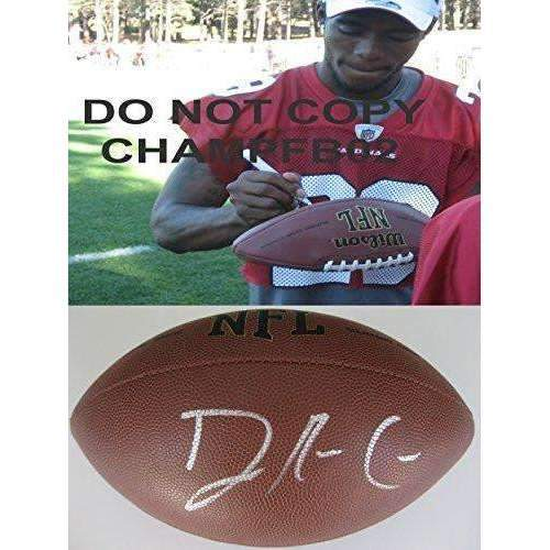 Dominique Rodgers-cromartie, DRC, New York Giants, Denver Broncos, Philadelphia Eagles, Arizona Cardinals, Tennessee State, Signed, Autographed, NFL Football, a COA with the Proof Photo of DRC Signing Will Be Included