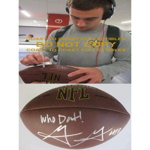 Garrett Grayson New Orleans Saints, Colorado State, Signed, Autographed, NFL Football, a COA with the Proof Photo of Garrett Signing the Football Will Be Included