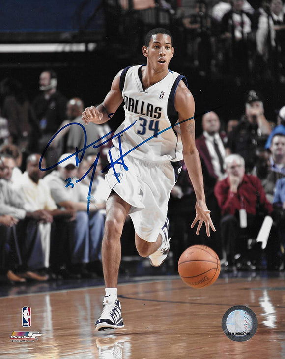 Devin Harris signed Dallas Mavericks basketball 8x10 photo COA.