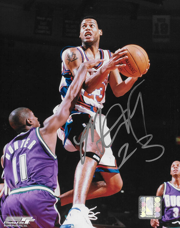 Marcus Camby signed New York Knicks basketball 8x10 photo COA