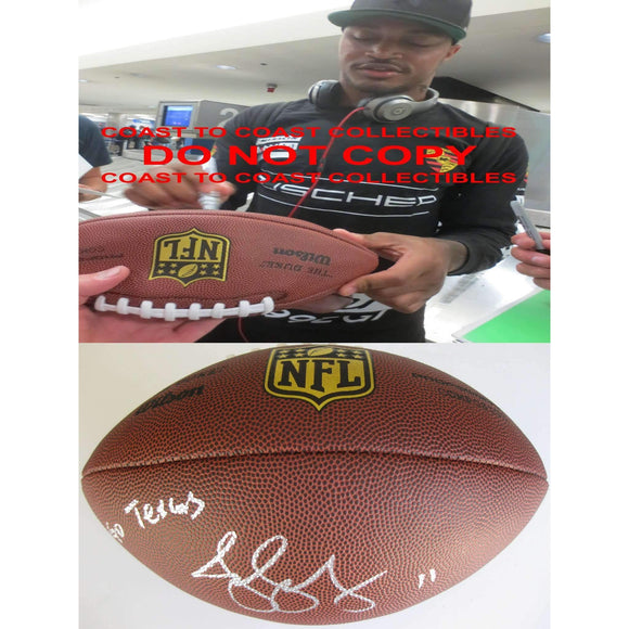 Jaelen Strong Houston Texans, ASU, Signed, Autographed, NFL Duke Football, a COA with the Proof Photo of Jaelen Signing Will Be Included with the Football