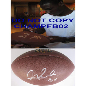Morris Claiborne, New York Jets, Dallas Cowboys, LSU Tigers, Signed, Autographed, NFL Football, the Football Comes with a COA and Proof Photo of Morris Signing the Ball