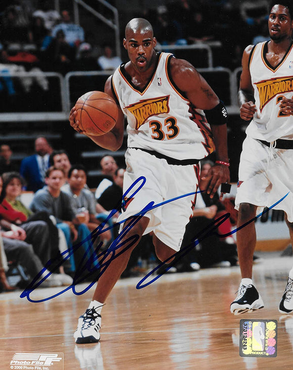 Antawn Jamison signed Golden State Warriors basketball 8x10 photo COA.