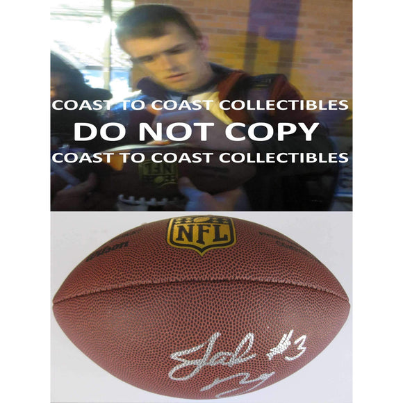 Jake Browning Washington Huskies, Signed, Autographed, Duke Footbal,a COA With the Proof Photo of Jake Signing the Football Will Be Included