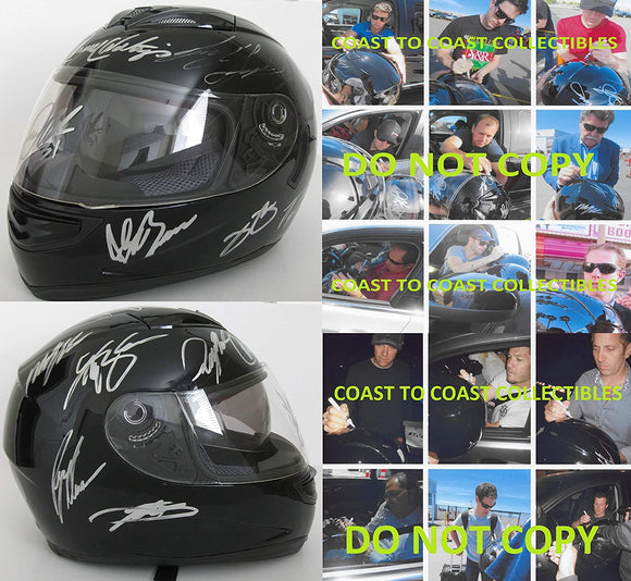 Nascar Drivers signed full size helmet Johnson,Keselowski,Logano + more proof