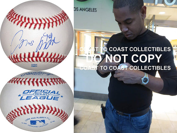 Carlos Marmol Chicago Cubs Dodgers Marlins signed autographed baseball COA proof