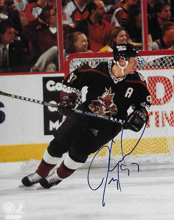 Jeremy Roenick, Phoenix Coyotes, signed, autographed, 8x10 Photo, Coa with Proof Photo