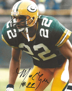 Mark Lee Green Bay Packers autographed football 8x10 photo proof COA