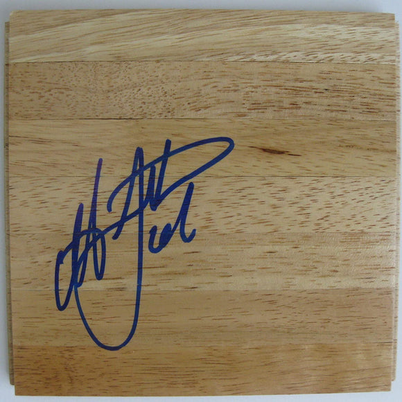 Antawn Jamison Tar Heels Warriors signed autographed basketball floorboard COA