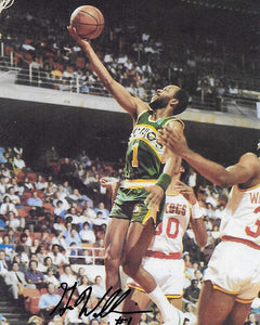 Gus Williams Seattle SuperSonics, Sonics signed,autographed basketball 8x10 photo,proof COA