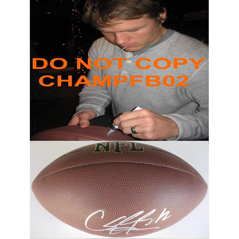 Caleb Hanie, Chicago Bears, Colorado State, Denver Broncos, Signed, Autographed, NFL Football, a COA with the Proof Photo of Caleb Signing Will Be Included