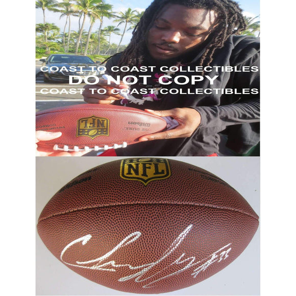 Chris Ivory Jacksonville Jaguars, New York Jets, New Orleans Saints signed autographed duke football