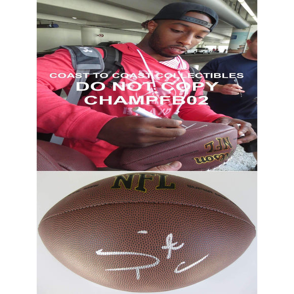 Stepfan Taylor, Arizona Cardinals, Stanford Cardinals, Signed, Autographed, NFL Football, A Coa with the Proof Photo of Stepfan Signing Will Be Included with the Football