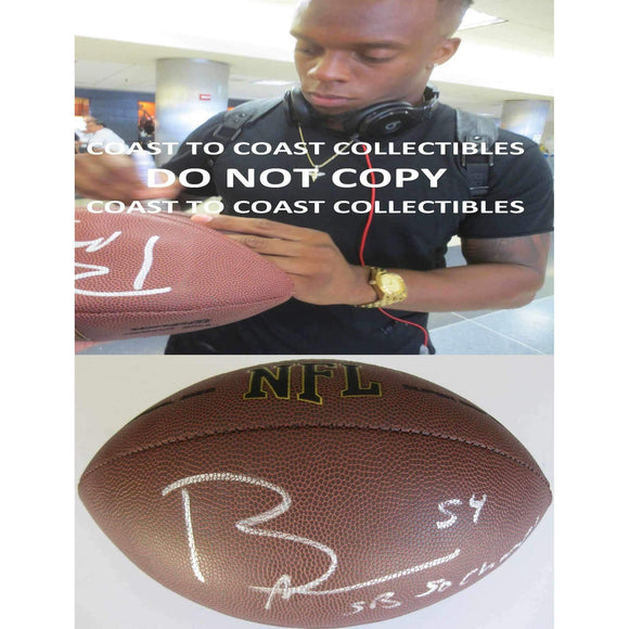 Brandon Marshall Denver Broncos signed, autographed NFL football - COA and proof photo included