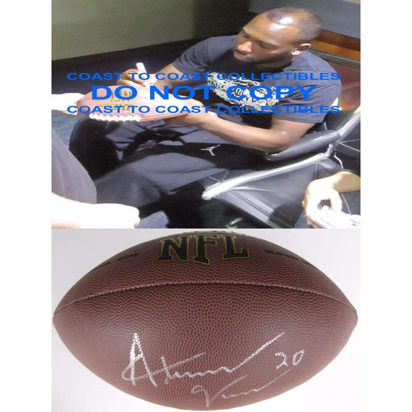 Alterraun Verner Tampa Bay Buccaneers, Tennessee Titans, Ucla Bruins signed, autographed football