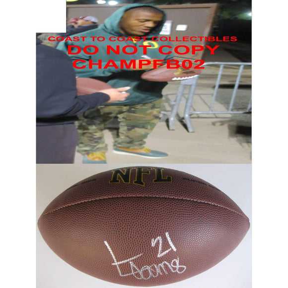 Lamichael James, San Francisco 49ers, Oregon Ducks, Signed, Autographed, NFL Football, a COA with the Proof Photo of Lamichael Signing Will Be Included with the Football