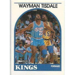 1989, Wayman Tisdale, Sacramento Kings, Signed, Autographed, Hoops Basketball Card, Card # 225,