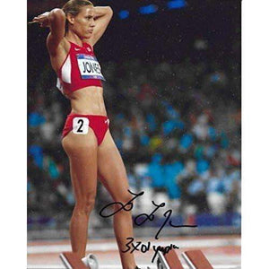 Lolo Jones, Track & Field, Olymics, USA, Signed, Autographed, Hockey 8x10 Photo, a Coa with the Proof Photo of Lolo Signing Will Be Included-