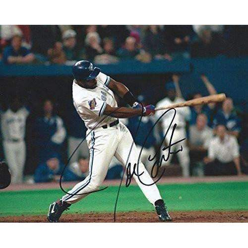 Joe Carter, Toronto Blue Jays, Signed, Autographed, 8x10 Photo, a COA with the Proof Photo Will Be Included.