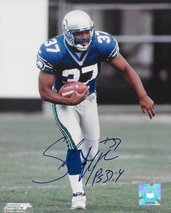 Shaun Alexander Seattle Seahawks autographed 8X10 photo proof COA