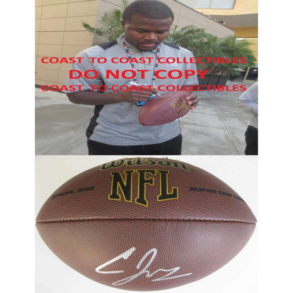 Cardale Jones, Buffalo Bills, Ohio State Buckeyes, Signed, Autographed, NFL Football,.,