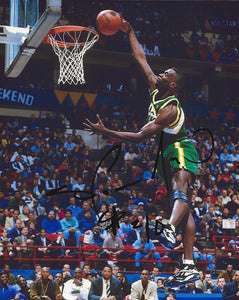 Shawn Kemp Seattle SuperSonics signed autographed basketball 8x10 photo proof COA,