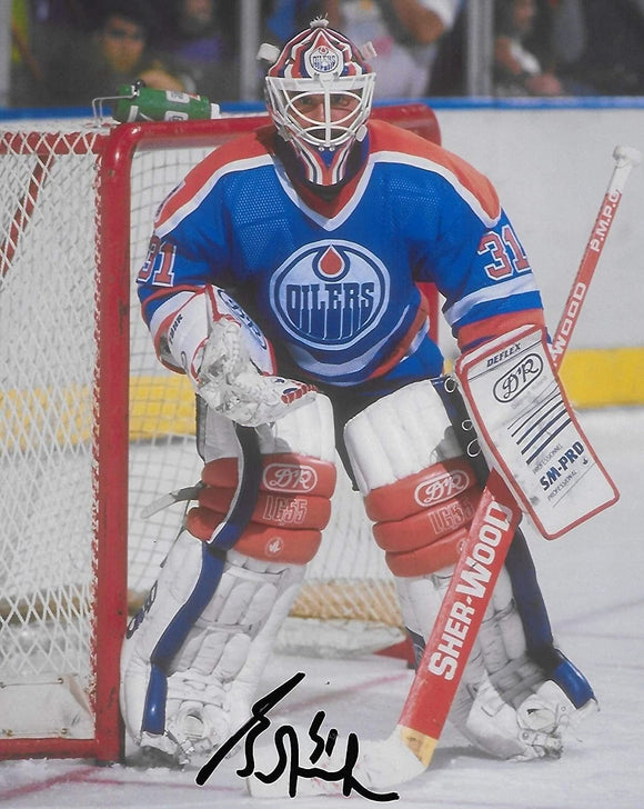 Grant Fuhr Edmonton Oilers signed autographed 8x10 Photo proof COA