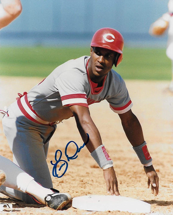 Eric Davis Cincinnati Reds signed, autographed baseball 8x10 photo. proof COA