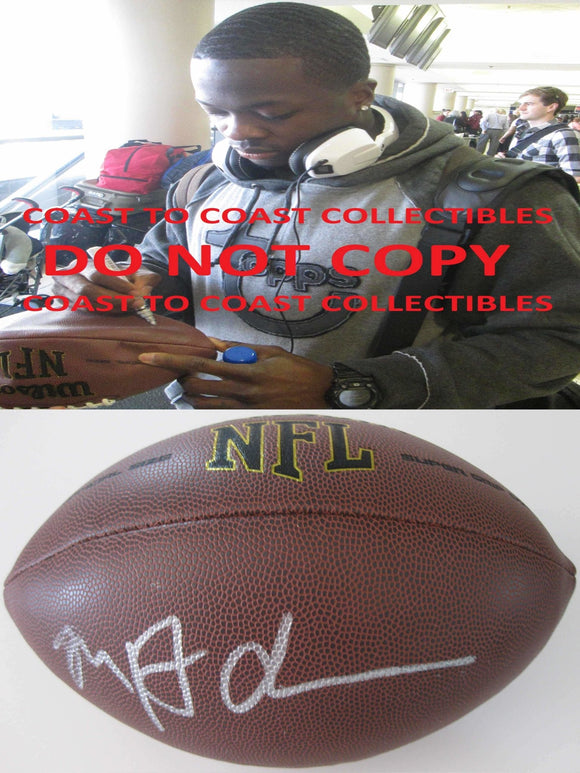 Marquise Goodwin, San Francisco 49ers, Texas Longhorns, Signed, Autographed, NFL Football, A Coa with the Proof Photo of Marquie Signing Will Be Included
