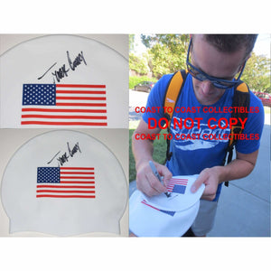 Tyler Clary, USA Olympic Swimmer, Signed, Autographed, Swim Cap, a Coa with the Proof Photo of Tyler Signing the Swim Cap Will Be Included