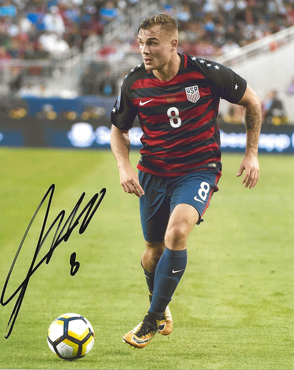 Jordan Morris United States signed USA soccer 8x10 photo proof COA