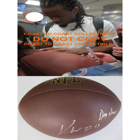 Kevin White Chicago Bears, West Virginia, Signed, Autographed, NFL Football, a COA with the Proof Photo of Kevin Signing the Football Will Be Included