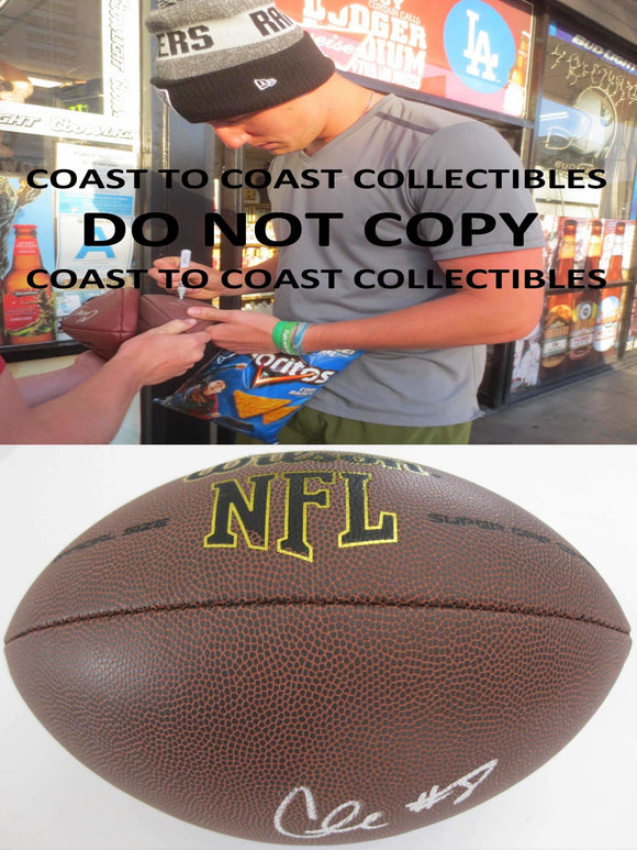 Connor Cook, Oakland Raiders, Michigan State, Signed, Autographed, NFL Football,