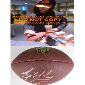AJ Mccarron Buffalo Bills, Cincinnati Bengals, Alabama signed, autographed Duke football - With COA