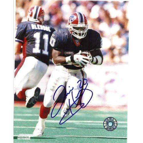 Travis Henry, Buffalo Bills, Tennessee, Signed, Autographed, 8x10 Photo, Coa, Rare Hard Photo to Find