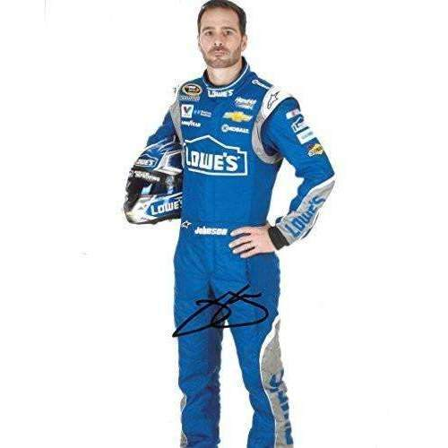 Jimmie Johnson, Nascar, No. 48, Lowe's Chevrolet for Hendrick Motorsports, Signed, Autographed, 8x10 Photo, a COA with the Proof Photo of Jimmie Signing Will Be Included.-
