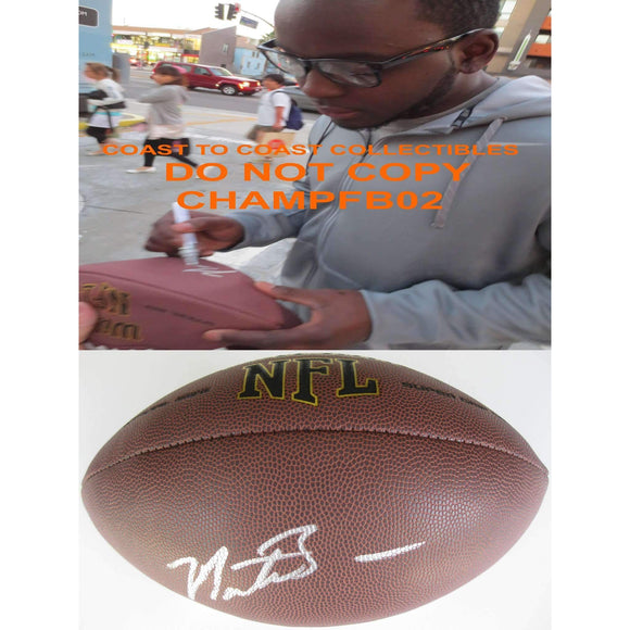 Montee Ball, Denver Broncos, Wisconsin Badgers, Signed, Autographed, NFL Football, a COA with the Proof Photo of Montee Signing Will Be Included