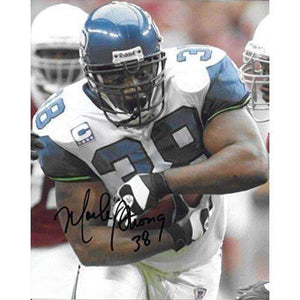 Mack Strong, Seattle Seahawks, Signed, Autographed, 8X10 Photo, a COA with the Proof Photo of Mack Signing Will Be Included..