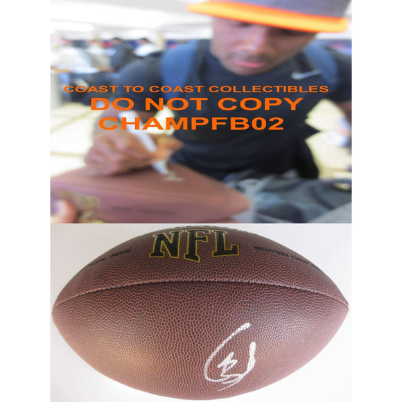 Giovani Bernard, Cincinnati Bengals, North Carolina Tar Heels, Signed, Autographed, NFL Football, a COA with the Proof Photo of Giovani Signing Will Be Included with the Football