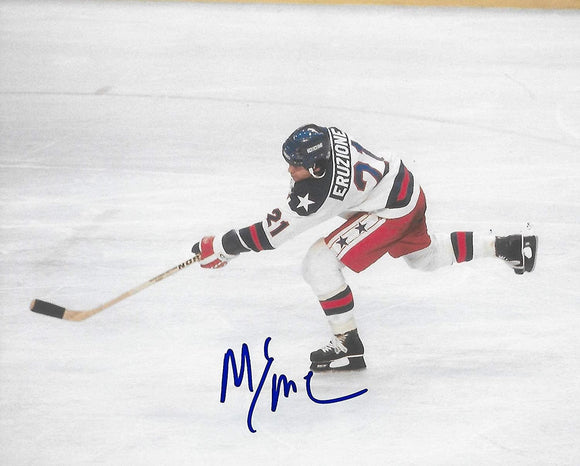 Mike Eruzione1980 Lake Placid Winter Olymics USA gold signed,autographed Hockey 8x10 photo,proof COA