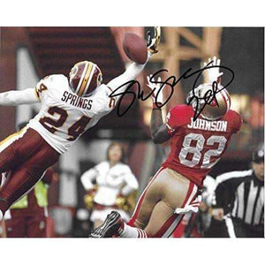 Shawn Springs Washington Redskins, Signed, Autographed, 8X10 Photo, a COA with the Proof Photo of Shawn Signing Will Be Included