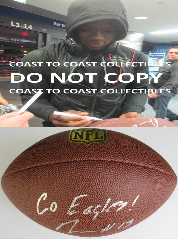 Nelson Agholor, Philadelphia Eagles, USC Tojans, Signed, Autographed, NFL Duke Football, a COA with the Proof Photo of Nelson Signing Will Be Included