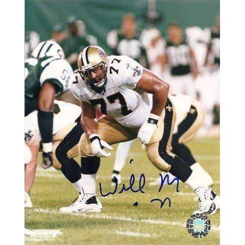 Willie Roaf, New Orleans Saints, Hall of Fame, Hof, Signed, Autographed, 8x10 Photo, Coa, Rare Hard Photo to Find