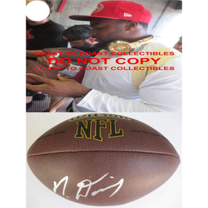Mike Davis, Seattle Seahawks, 49ers, South Carolina, Signed, Autographed, NFL Football, a COA with the Proof Photo of Mike Signing Will Be Included
