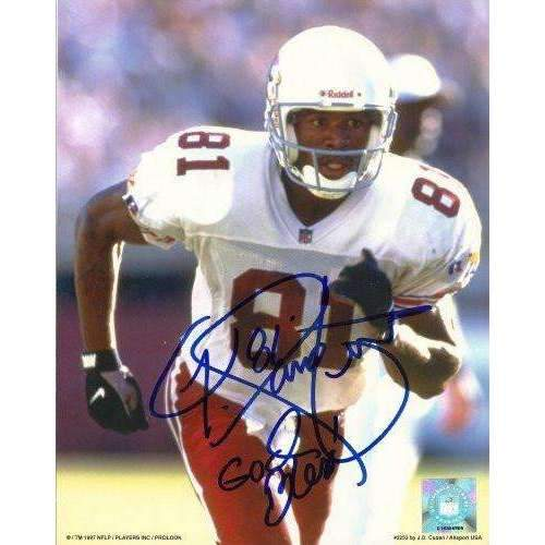 Frank Sanders, Arizona Cardinals, Auburn Tigers, Signed, Autographed, 8x10 Photo, Coa, Rare Hard Photo to Find