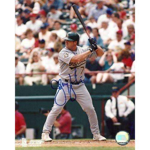 JEREMY GIAMBI OAKLAND ATHLETICS,A'S,MONEY BALL,SIGNED,AUTOGRAPHED 8X10,PHOTO,COA,RARE HARD TO FIND PHOTO